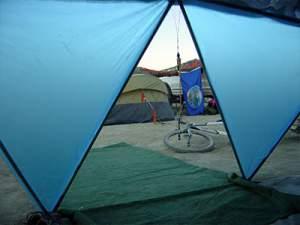 برزنت سبک برای چادرهای مسافرتی