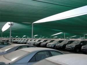 خرید توری سبز سایبان برای سقف پارکینگ
